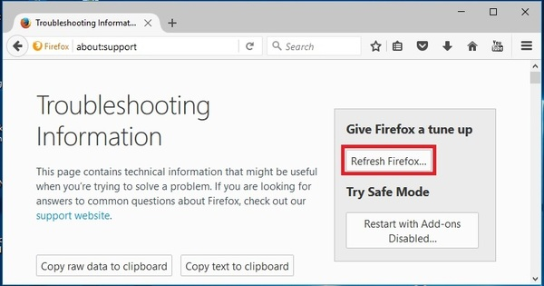 Reset Firefox to Default Settings