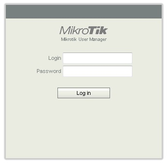 User Manager Login Screen