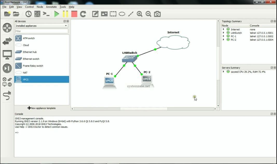 GNS3 Installation and Configuration Step by Step in Windows