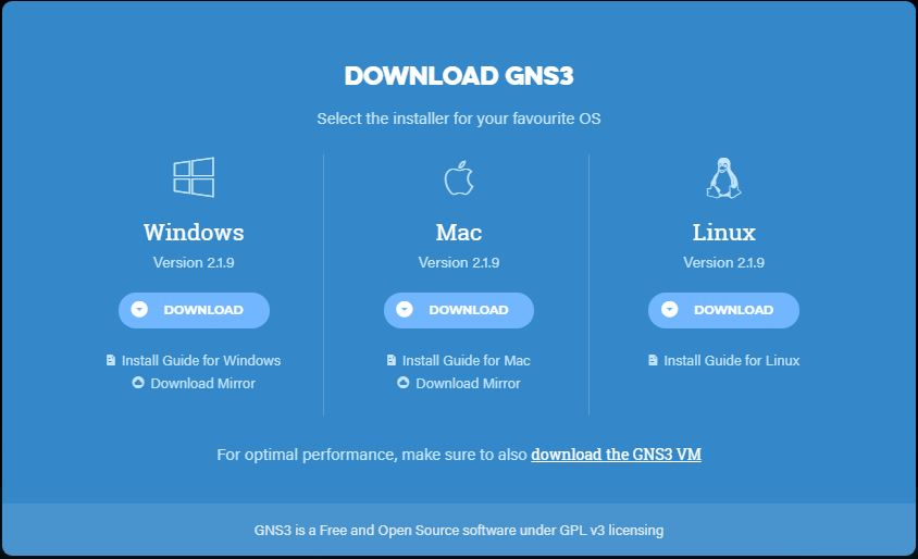 gns3 download for windows 10