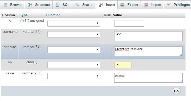 FreeRADIUS MySQL Database GUI with phpMyAdmin on CentOS 7